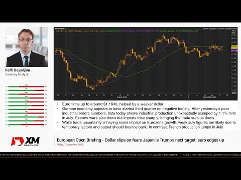 Forex News: 07/09/2018 - Dollar slips on fears Japan is Trump's next target; euro edges up