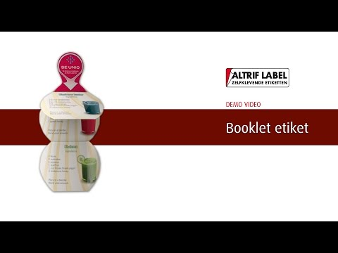 Booklet etiket | Altrif Label