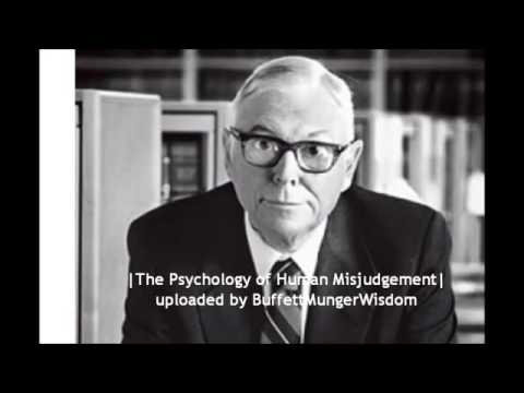 The Psychology of Human Misjudgement   Charlie Munger Full S