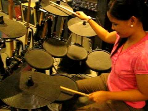Mae Ruth Gerardo on Medeli Electronic Drums