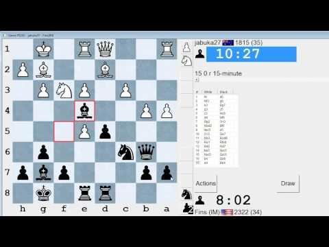 Standard Chess #113: jabuka27 vs. IM Bartholomew (Bird's Opening)
