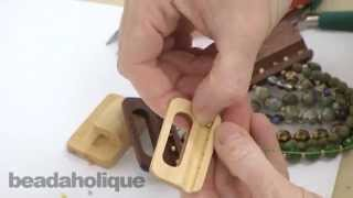How To Fasten Stringing Material To Wood Buckle Clasps