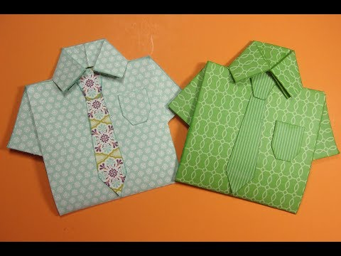 Fun Fold Shirt and Tie Card, Great Father's Day or B-Day Card