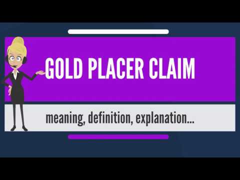 What Is GOLD PLACER CLAIM? What Does GOLD PLACER CLAIM Mean? GOLD PLACER CLAIM Meaning