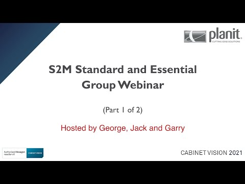 CV2021 Group Webinar - S2M Standard and Essential - Part 1 of 2