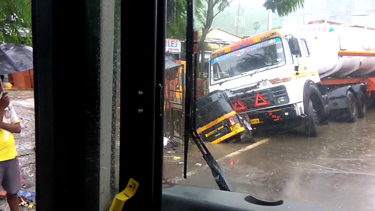 Thane -ghodbunder road accident||auto driver die||