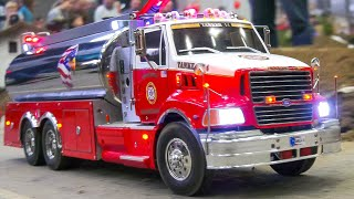 MEGA RC FIRE TRUCKS IN COLLECTION!! RC SAN FRANCISCO FIRE TRUCKS, RC MODEL FIRE RESCUE ACTION