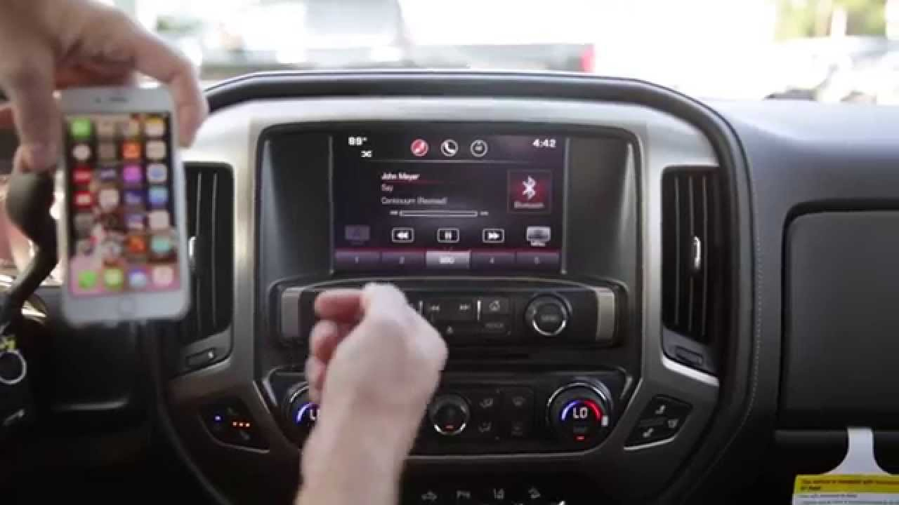 How To Sync Your Bluetooth Cell Phone To Your Gmc Sierra Youtube