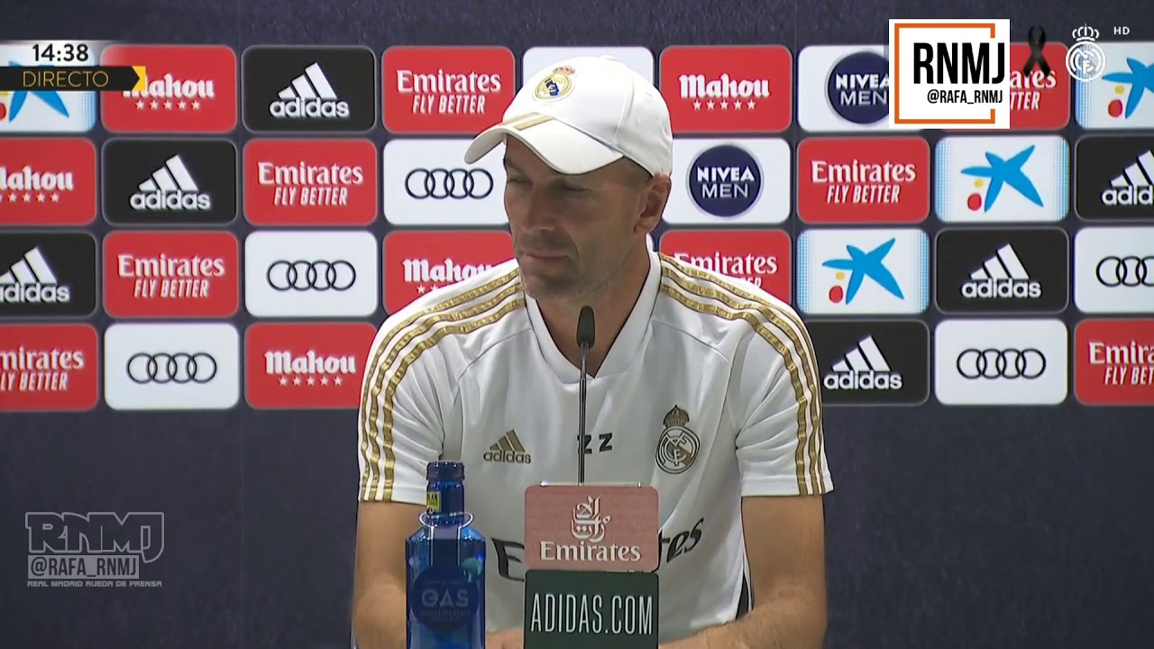 Rueda de prensa de ZIDANE previa Athletic Bilbao - Real Madrid (04/07/2020)
