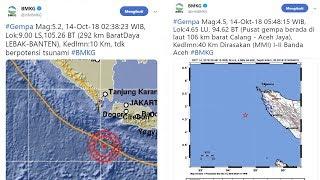 Selang 3 Jam Setelah Gempa 5,4 SR di Banten, Gempa 4,5 SR Guncang Banda Aceh