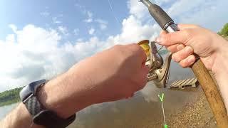 Фидерная рыбалка, река Ока. Май 2018. Одно утро - два места ловли.