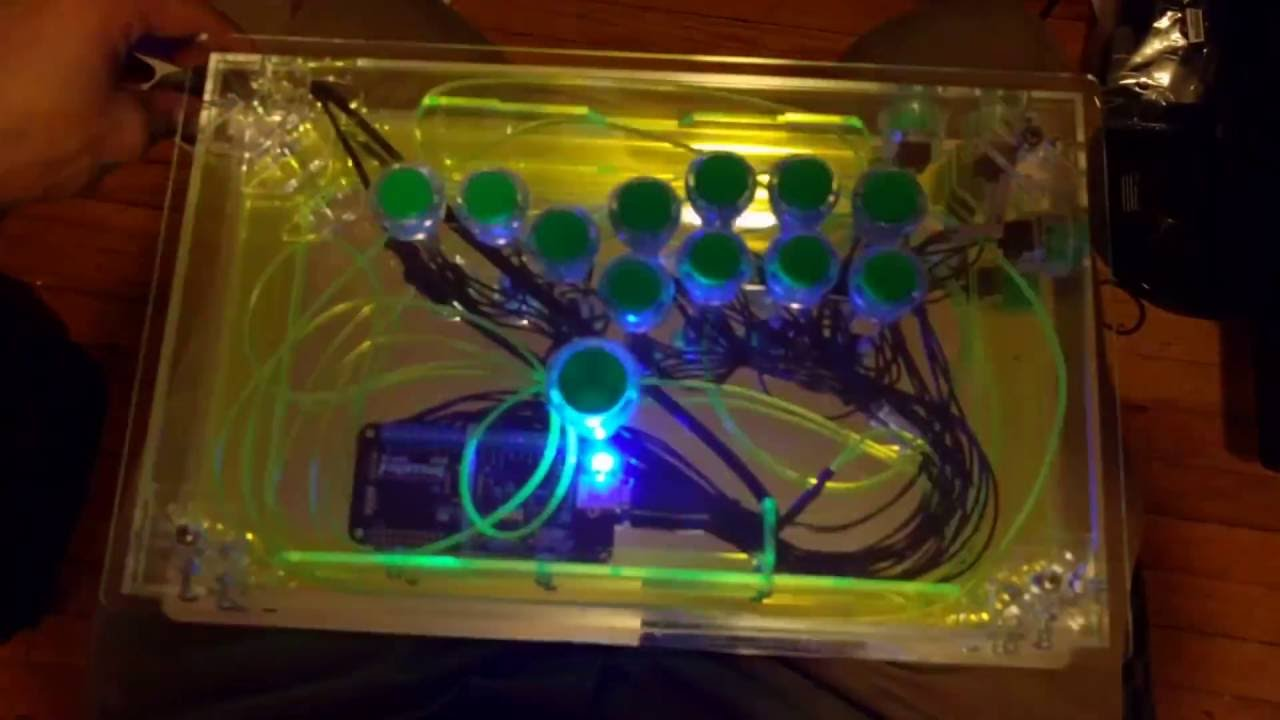 Lighting mod for my HitBox controller - YouTube