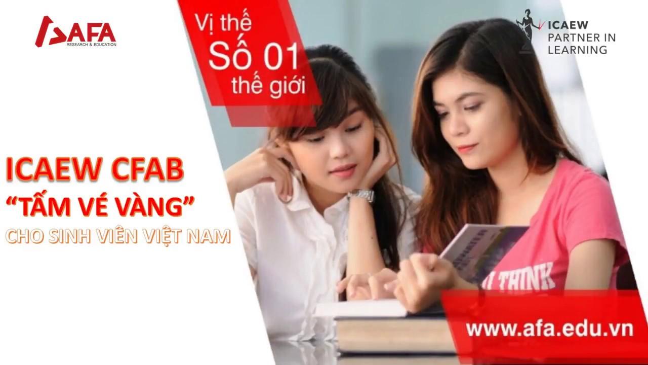 ICAEW CFAB – Chứng chỉ quốc tế dành cho sinh viên Việt Nam!