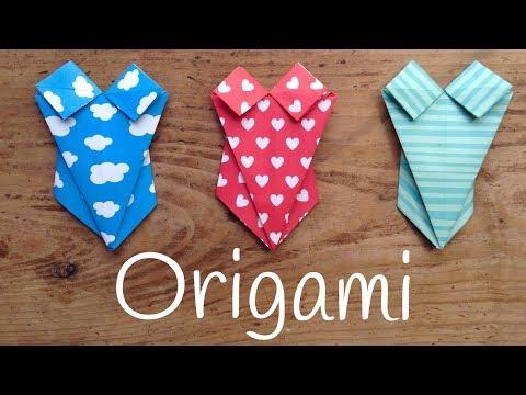 Traje de baño de origami fácil para niños