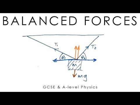 balanced forces a level physics youtube