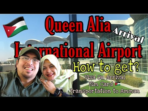 Queen Alia International Airport Jordan 🇯🇴    Travel the world    PipOpVlog100