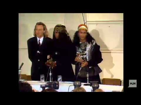 Milli Vanilli Grammy revoked (1990 press conference)