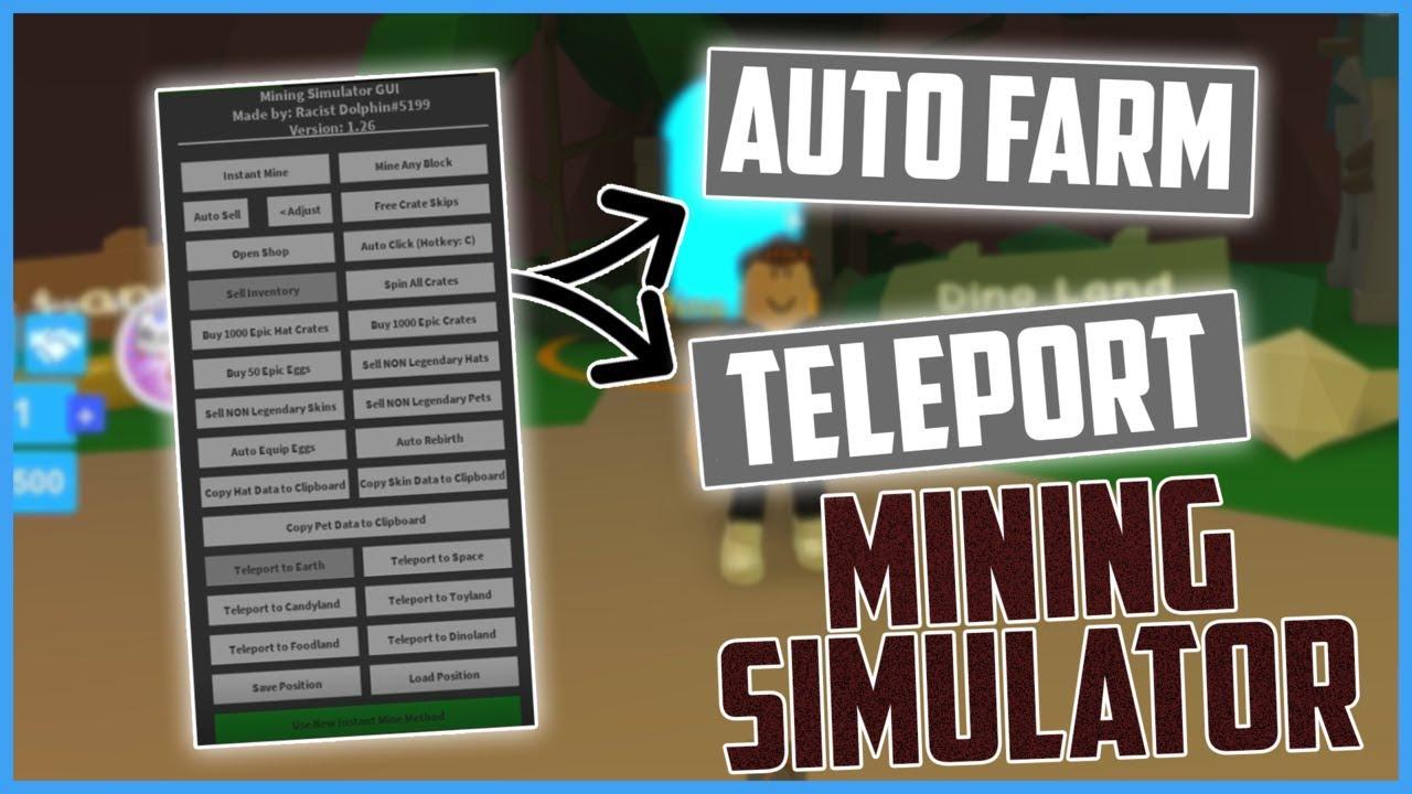 Roblox Hack Script Mining Simulator Auto Farm Insta