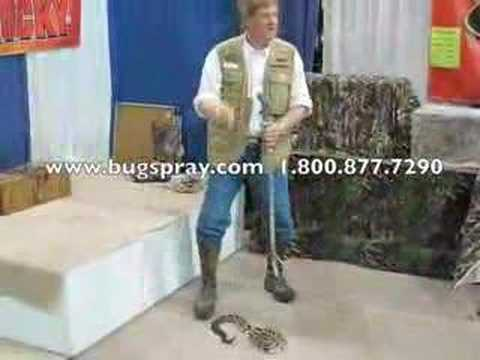 Snake Handler with a Timber Rattler and snake tongs