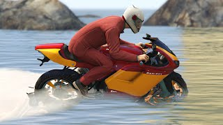 BIKE RACING ON WATER!? (GTA 5 Funny Moments)