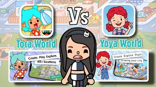 TOCA World versus YOYA World  Game that looks the same!!?   Toca Boca  NecoLawPie