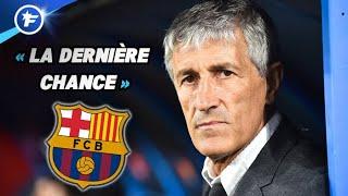 Quique Setién sur la sellette au FC Barcelone   Revue de presse