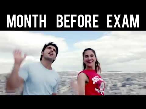 Funny video Exam situation with bollywood songs