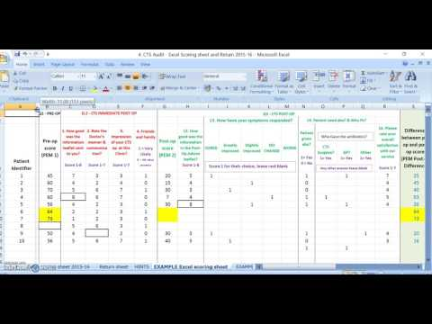 ASPC Carpal Tunnel Audit - How to Score and use the auto fill Results Excel Spreadsheet