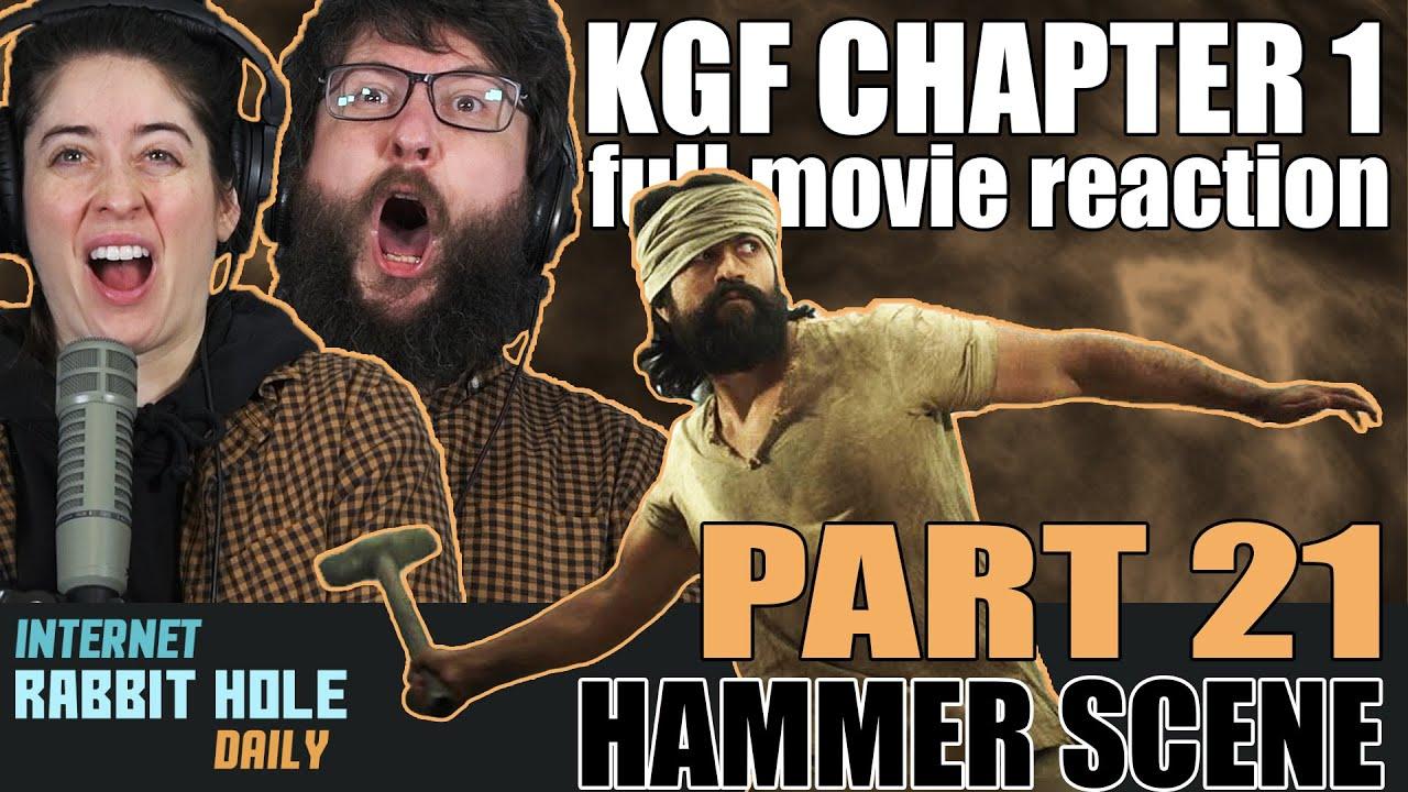 HAMMER SCENE | KGF Chapter 1 full movie reaction | Kannada | PART 21