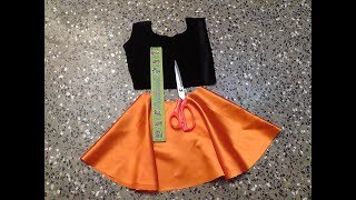KIDS FANCY PARTY WEAR FROCK CUTTING AND STITCHING PART-1