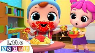 Yum Yum Spaghetti | Table Manners Song | Little Angel Nursery Rhymes