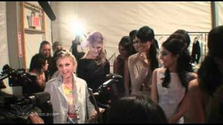 fashion week sept 2010 during show ellen degeneres backstage nyc