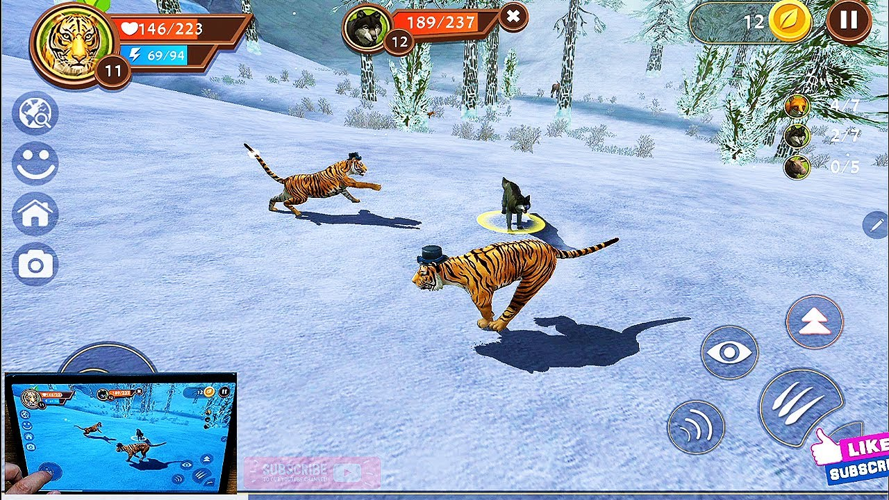 Wild Tiger Sim 3D #LV10 # Wildcraft Wildlife Animal Simulator - Android Ios Gameplay