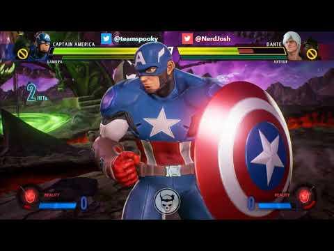 Marvel vs Capcom Infinite Casual Match: Spooky (Gamora/Cap America) vs NerdJosh (Arthur/Dante) Set 2