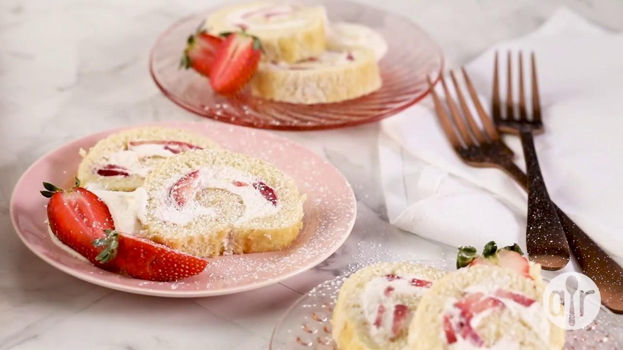 How to make strawberry cream roll dessert recipes allrecipes how to make strawberry cream roll dessert recipes allrecipes forumfinder Images