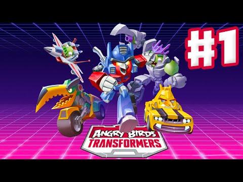 Angry Birds Transformers - Gameplay Walkthrough Part 1 - Optimus Prime, Bumblebee, Soundwave! (iOS)