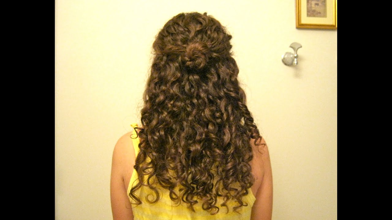 Curly Hairstyle Half Up Half Down