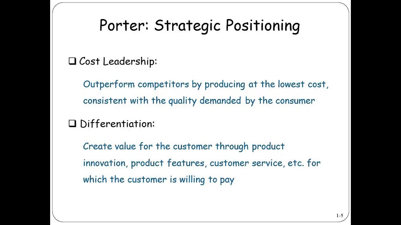 nokia cost leadership strategy Michael porter's generic cost leadership strategy explained preface: back when i was a heads down developer analyst working at general cost leadership strategy.