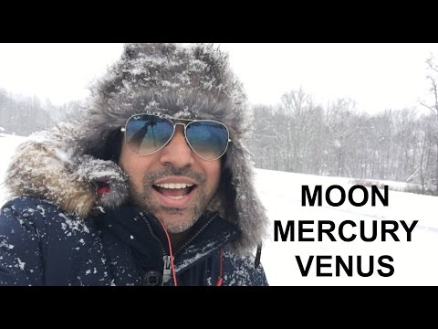 Meaning of Venus Mercury and Moon transit in Astrology