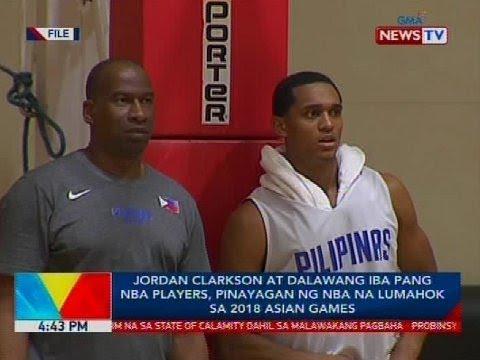 Jordan Clarkson at dalawang iba pang NBA players, pinayagan ng NBA na lumahok sa 2018 Asian Games