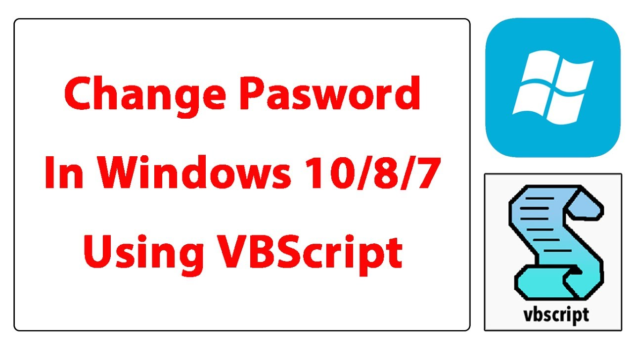 How to use script change local password in Windows 10/8/7 [VBS File]