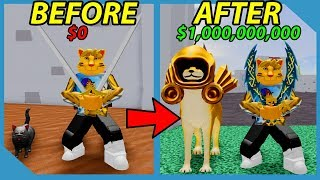 Buying the Infinite Bag and Making Millions in Roblox Warrior Simulator