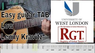 EASY GUITAR - Lenny Kravitz - Low - - HOW TO PLAY