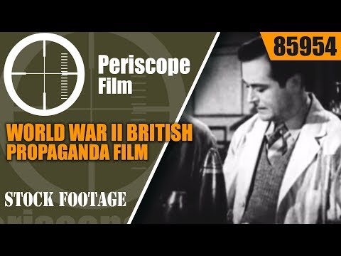 "WORLD WAR II BRITISH PROPAGANDA FILM  ""NOW YOU'RE TALKING"" 85954"