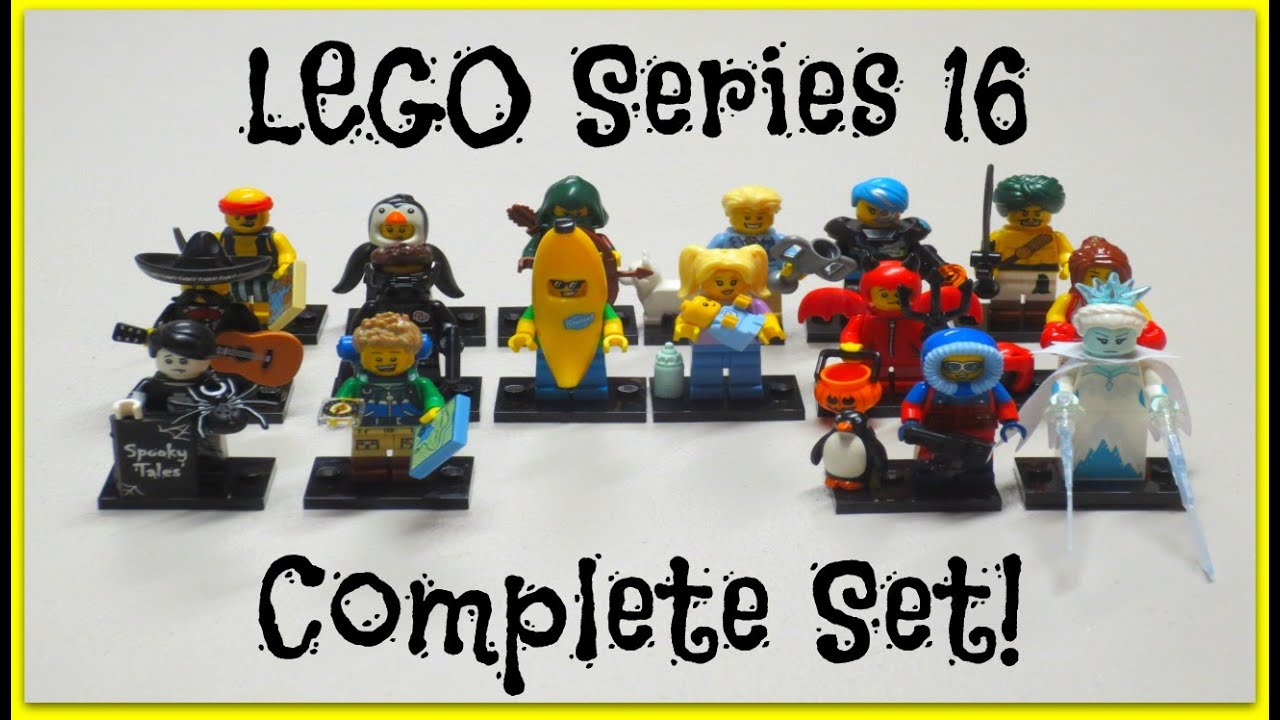 Lego minifigures series 16 complete set opening review bump codes youtube