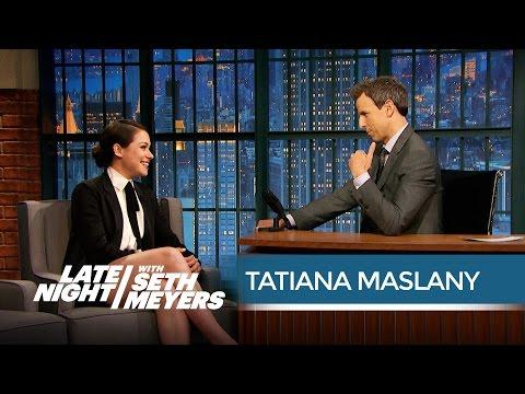 "Orphan Black's Tatiana Maslany on Her Emmy ""Snub"" - Late Night with Seth Meyers"