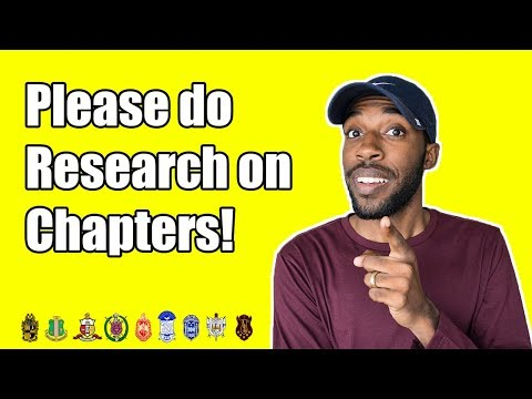 WHY ITS IMPORTANT TO RESEARCH CHAPTERS! | NPHC ADVICE