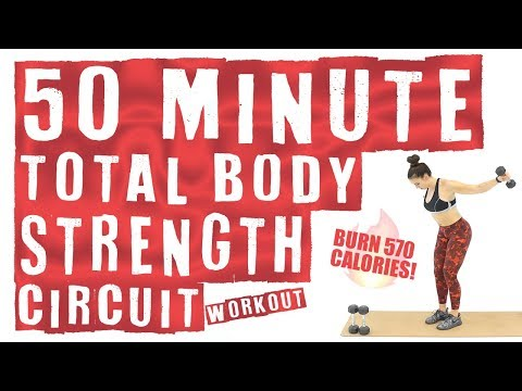50 Minute Total Body Strength Circuit Workout ��Burn 570 Calories! ��
