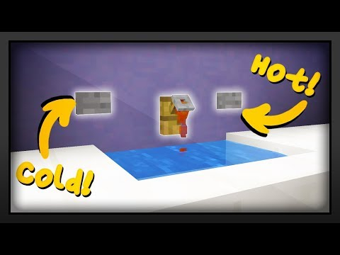 Minecraft - How To Make A Working Sink!
