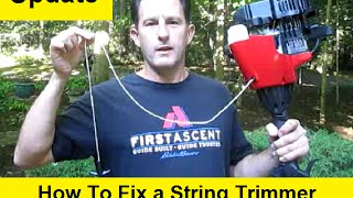 How To Fix a String Trimmer with a Broken Pull Cord 2